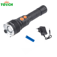 Cree T6 Cob Led Tactical Zoomable Torch High Power Hard Light Flashlight Waterproof Portable Hand Lantern