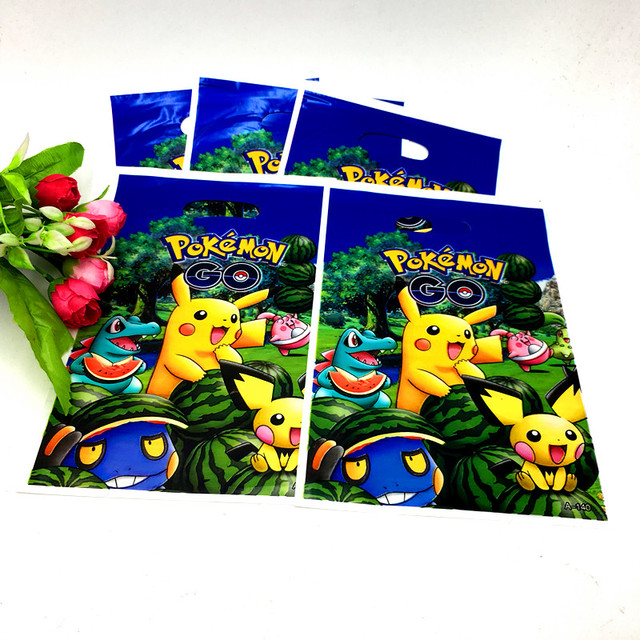 10PCSLOT POKEMON GO LOOT BAGS KIDS BIRTHDAY PARTY FAVORS POKEMON GO