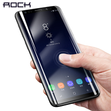 For Samsung Galaxy S9 Curved Glass ROCK Soft High Definition font b Slim b font Hydrogel