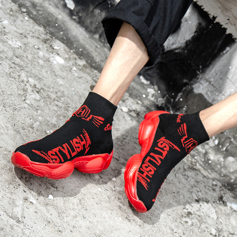 High-top Sock Running Shoes for Man 2019 Braned Zapatos De Hombre Air Sports Shoes Sneakers for Men Zapatillas Hombre Deportiva