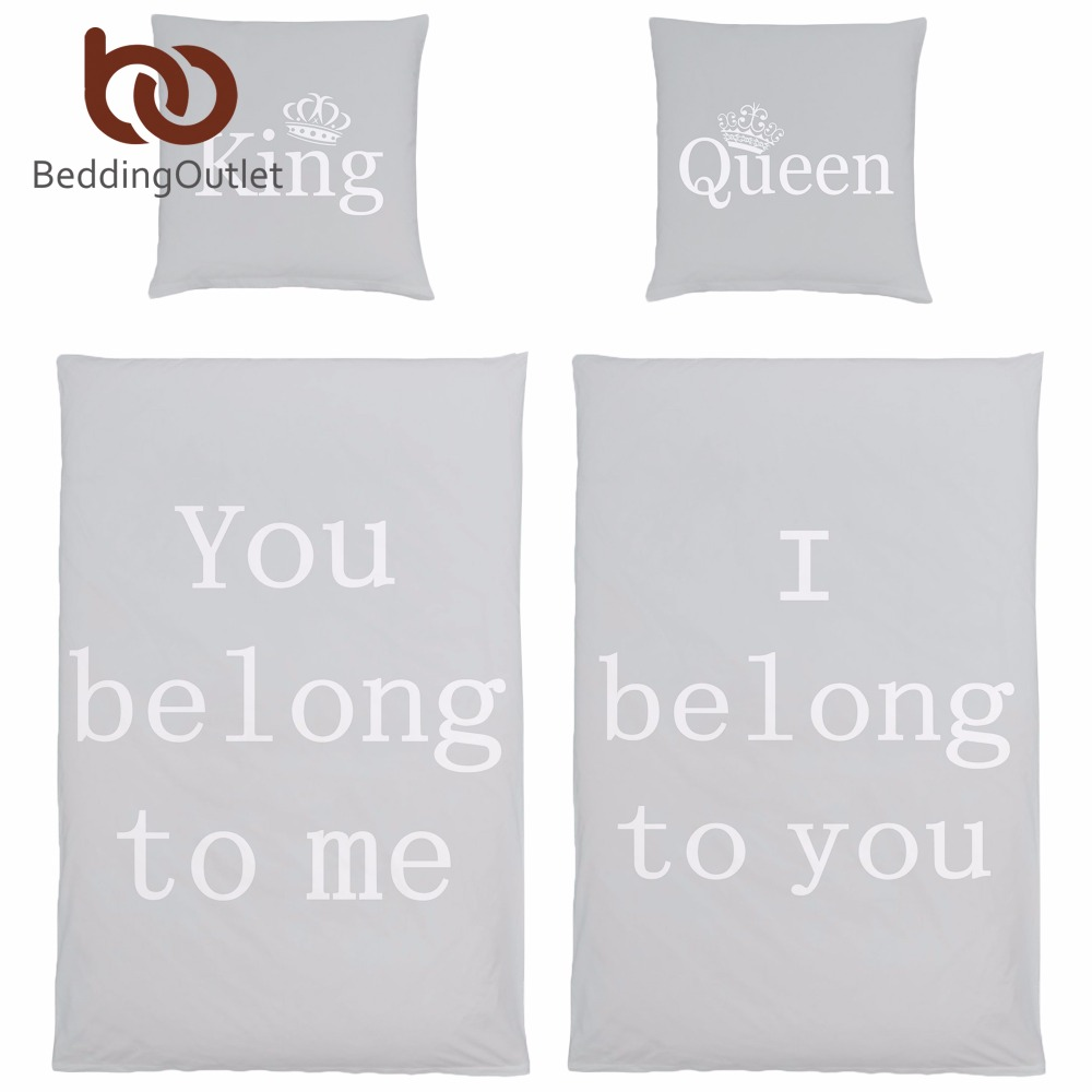 online get cheap bedding for couples aliexpresscom  alibaba group - beddingoutlet  piece white queen and king printed duvet cover set supersoft microfiber quilt cover couple bedding set for gift