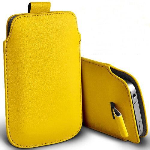 Nueva 13 colores pull up pouch bag case para zte axon 7 premium de cuero de la p