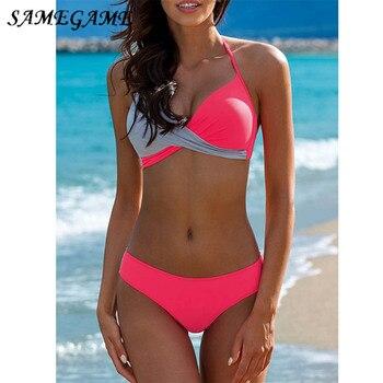 c44cad9201b1 Vertvie las mujeres Sexy Bikini De trajes De Beachsuit traje De Bikini,  traje De baño De tiras, ...