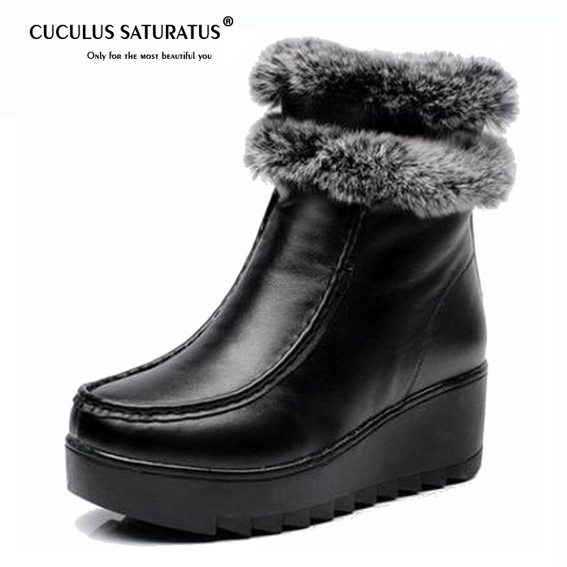 Cuculus Fur Winter Boots Genuine Leather 2019 Cowhide Womens Boots Female Snow Plush Ankle Boots Zip Zapatos Mujer Botas 1834Cuculus Fur Winter Boots Genuine Leather 2019 Cowhide Womens Boots Female Snow Plush Ankle Boots Zip Zapatos Mujer Botas 1834