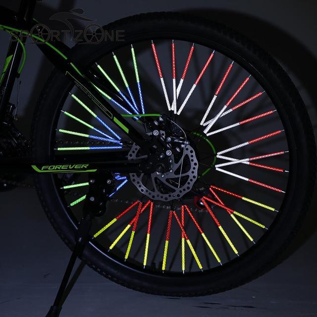 12pcs Pack 75mm Diy Bicycle Wheel Rim Reflective Spoke Reflector