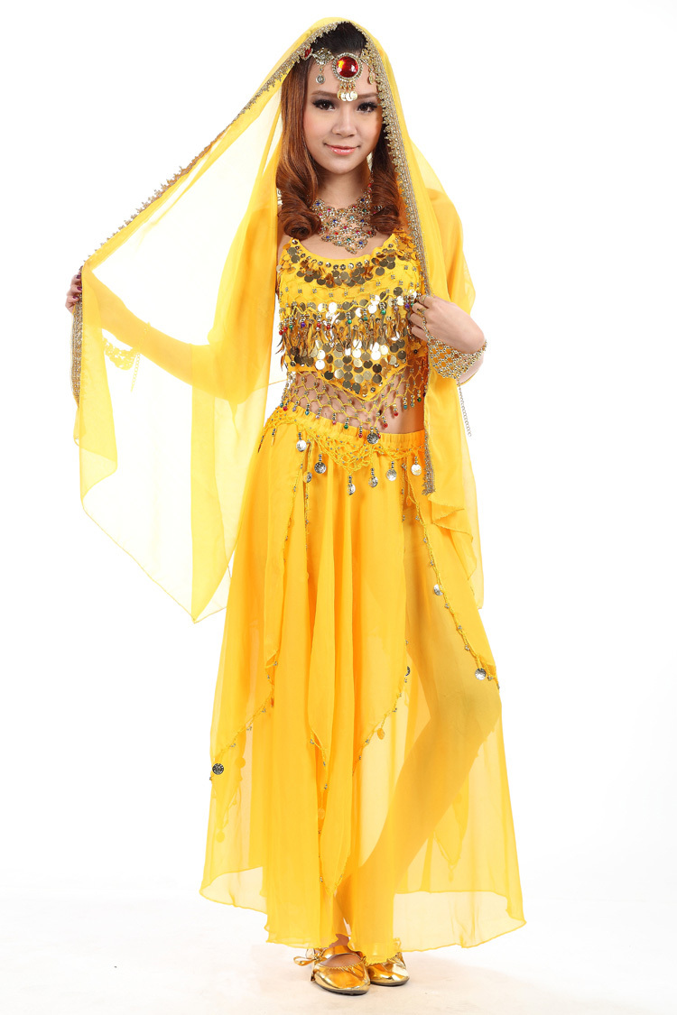 New Belly Dance Suit Chiffon Transparent Sexy DIY Small Pepper Indian Top Skirt Belt Veil Women Indian Costumes Accessories-in Belly Dancing from Novelty ...  sc 1 st  AliExpress.com & New Belly Dance Suit Chiffon Transparent Sexy DIY Small Pepper ...