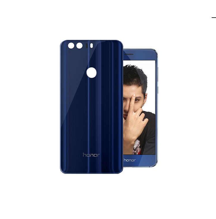 Оригинальный 3D зеркальный стеклянный чехол на заднюю крышку для Huawei Honor 8, Замена задней двери жесткий чехол, 4 цвета