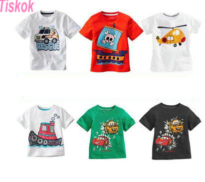 2016 tiskok Retail Brand Cotton Girls T shirts For Baby Girl Summer Short Sleeve Children Kids Clothes Blouse  Free Shipping