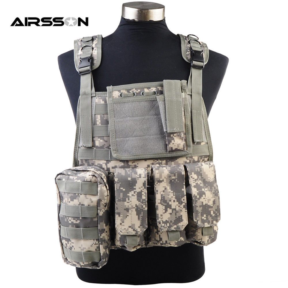 Airsoft Molle Tactical Plate Carrier Vest with Magazine Pouches Outdoor Military Army Protecting Combat Vest for Hunting War mil spec military lt6094k coyote brown cb plate carrier combat molle tactical vest army military combat vests
