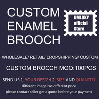 DMLSKY Customized Brooch Pins Fashion Pin with your Designs or Logo Customized Gifts