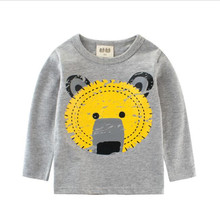 Фотография Kids T-shirt Cartoon Bear Casual T-shirt for Boys Children Clothing 2018 Spring Autumn Boy Top & Tee