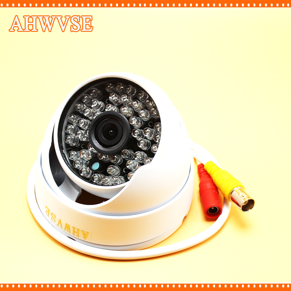 AHWVSE HD 1920*1080P 2.0MP 3.6MM Fixed Lens 48pcs IR leds Dome Camera Vandal proof Out/indoor IR Night Vision AHD CCTV System