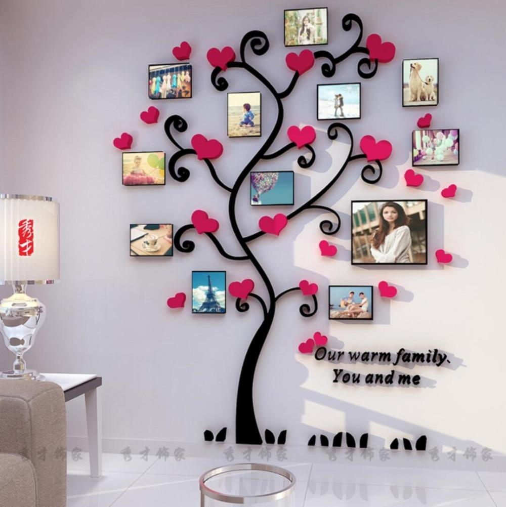 Yaradıcı Uşaqlar DIY 3D Etiket Romantik Sevgi Ağacı Şəkil - Ev dekoru - Fotoqrafiya 3