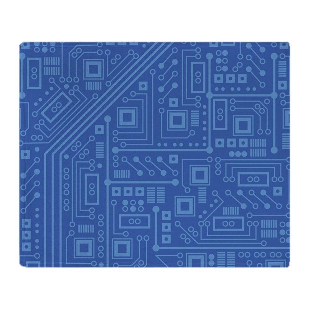Blu Circuito Soft Corallo Tessuto Pile Rimessa Laterale Coperta Divano Letto Coperta Da Viaggio 58x80 Pollici 50X60 pollice 40X50 pollice
