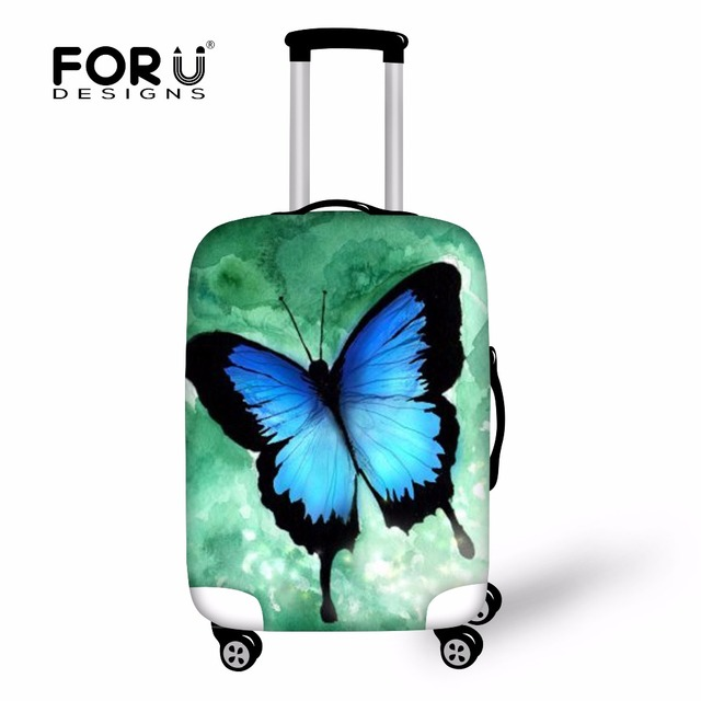 Trend Butterfly Printed Protective Luggage Cover Elastic Durable Dustproof Cover for 18-30 inch Trunk Bag Case Suitcase Cover