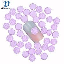 Blueness 3D nail art decoration charm jewelry resin purple flower romantic nail stud design nail accessories PJ212