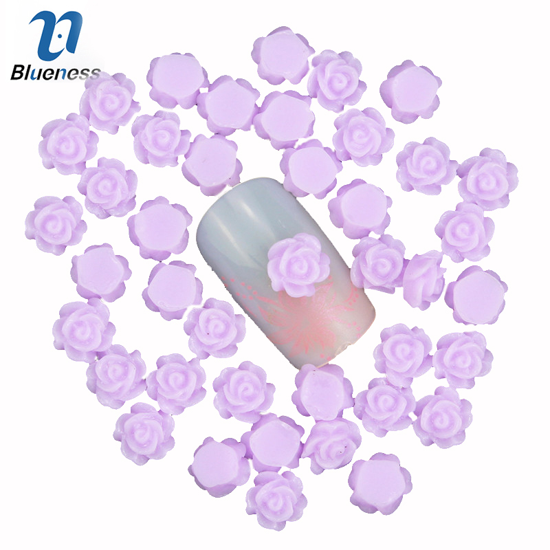 Blueness 3D nail art decoration charm jewelry resin purple flower romantic nail stud design nail accessories PJ212  100pcs 6 color choices resin flowers nail art decoration diy charm 3d unha nails accessories bl59