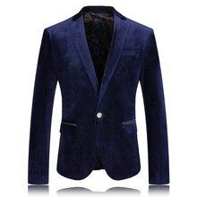 2017 Men's High quality casual flannel leisure suit men Business blazer jacket Men's fashion single breasted blazers size M-3XL