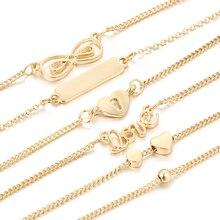 5Pcs/Set Alloy New Fashion Vintage Infinity Bracelets