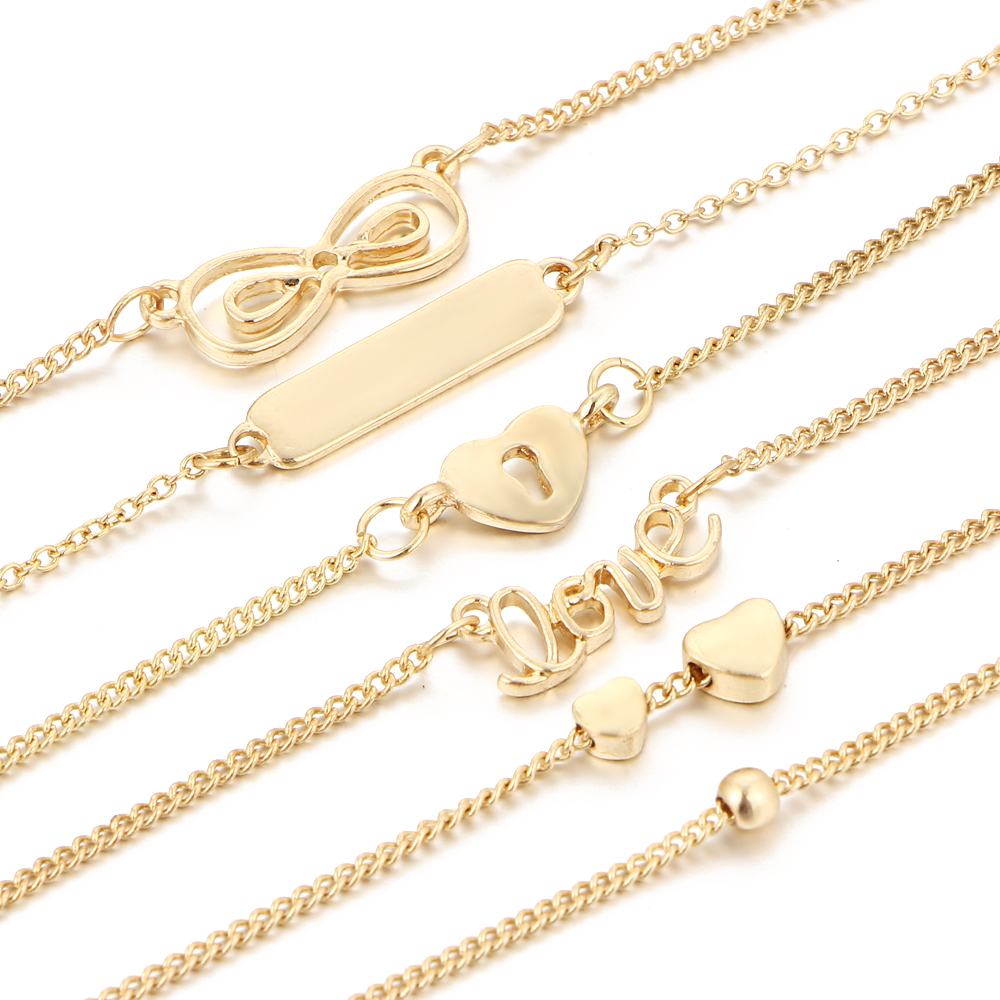 17KM 5 st / set Bijoux Fashion Vintage Infinity 8 armband & armband - Märkessmycken - Foto 5