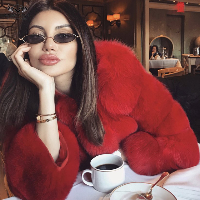 Tatyana Furclub Real Fur Coat Natural Fox Fur coat Jacket Fashion Fur Girl Winter Coat Female For Women Plus Size Can customized 4