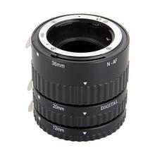 Meike enfoque automático af enfoque automático tubo de extensión macro set para nikon d-slr de la cámara