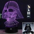 HY Black Knight 3D Controle Remoto Luz CONDUZIDA Da Noite candeeiro de Mesa de Toque Desk Lamp 7 Alterar Cor LED USB Carregador Multifunções Presente cartão
