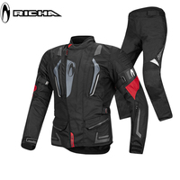 RICHA Motorcycle jacket protection pad Motorcross warm Winter suit riding jacket pants protective combinations Motorbike sets