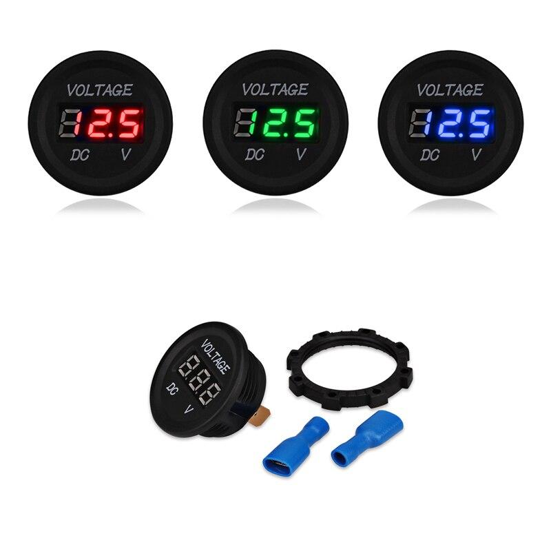 Automotive Voltmeter LED Digital Display