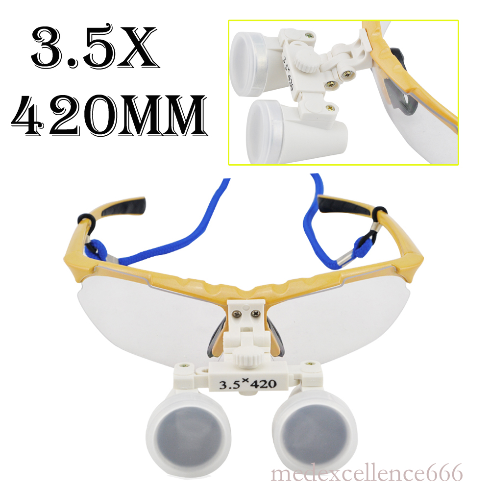 ФОТО 3.5X420mm Oral and dental magnifier Loupes Binocular Galileo Magnifiers Lens Glasses magnifierrry Case