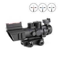 SPINA OPTICS 4x32 Acog Riflescope 20mm Dovetail Reflex Optics Scope Tactical Sight For Hunting Gun Rifle