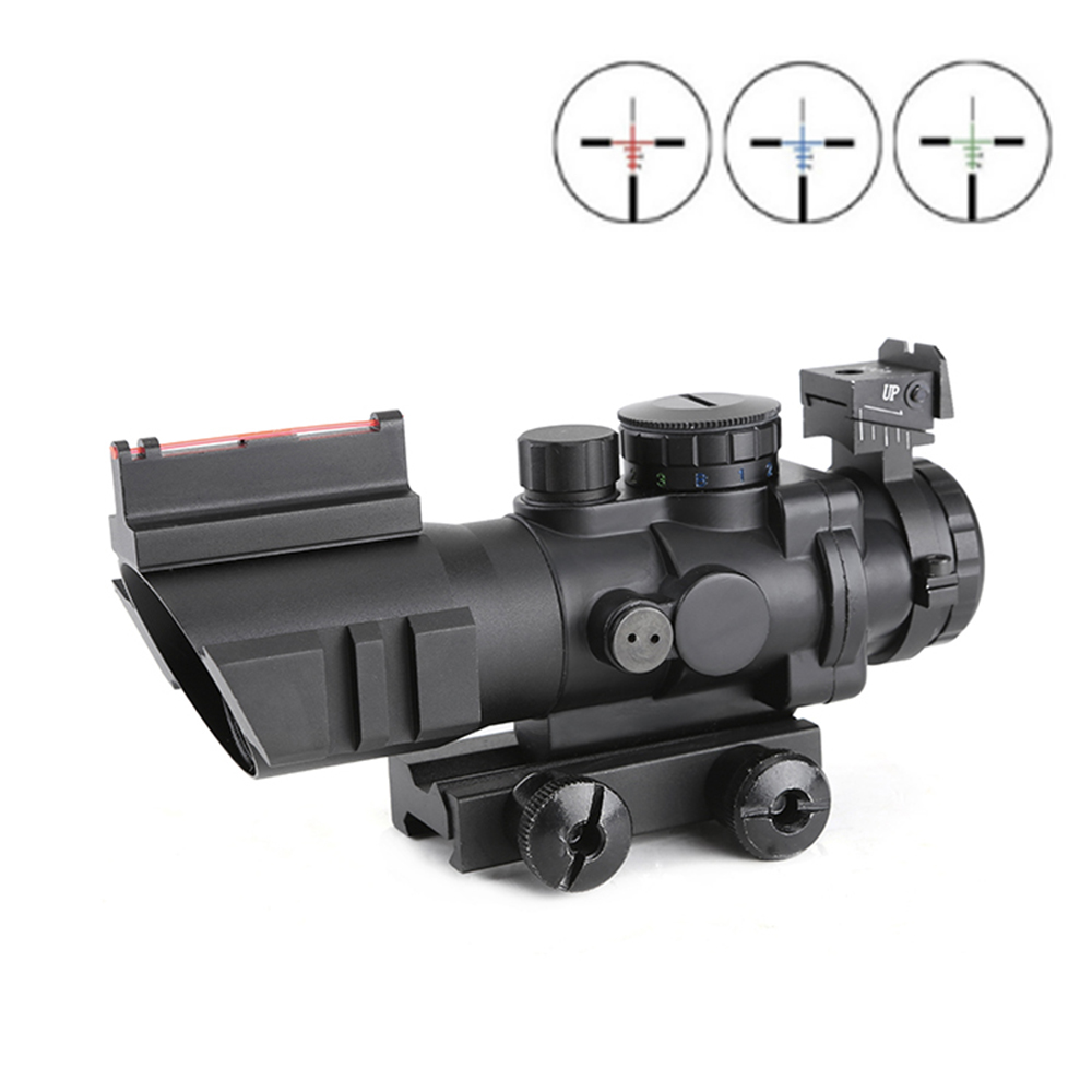 Riflescope 4x32 Acog Optics Scope 20mm Dovetail Reflex Tactical Sight For Hunting Rifle Airsoft scope tactical 3 9x40 3 in 1 red dot reflex riflescope with 20mm dovetail red laser optics sniper scope sight for hunting