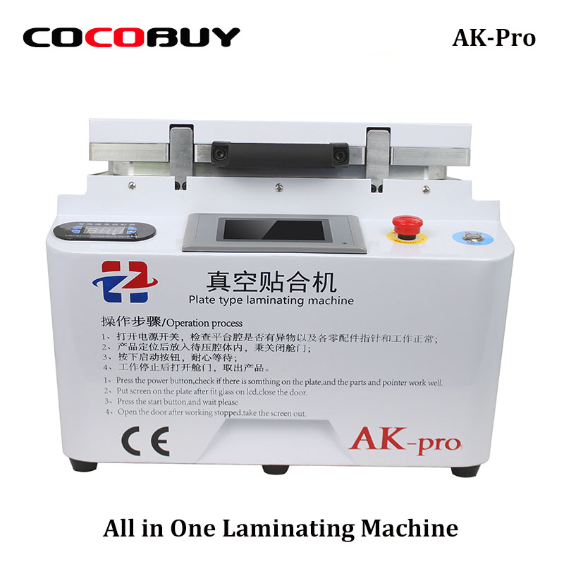 AK PRO Vacuum laminating machine repair lcd refurbish oca laminator machine iPhone repair machine Air bubble remover machine malina by андерсен цепочка