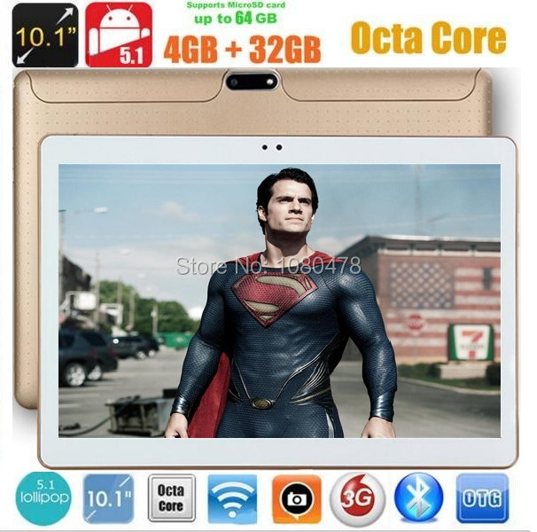 DHL Free 10 inch Tablet PC Octa Core 4GB RAM 64GB ROM Android 7.0 IPS GPS 1280x800 5.0MP WCDMA GPS 3G Tablet+gifts(China)