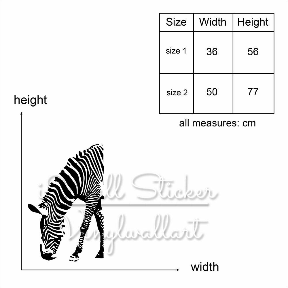 Baby Kindergarten Zebra Wandaufkleber Zebra Wandtattoo Tier Wand ...