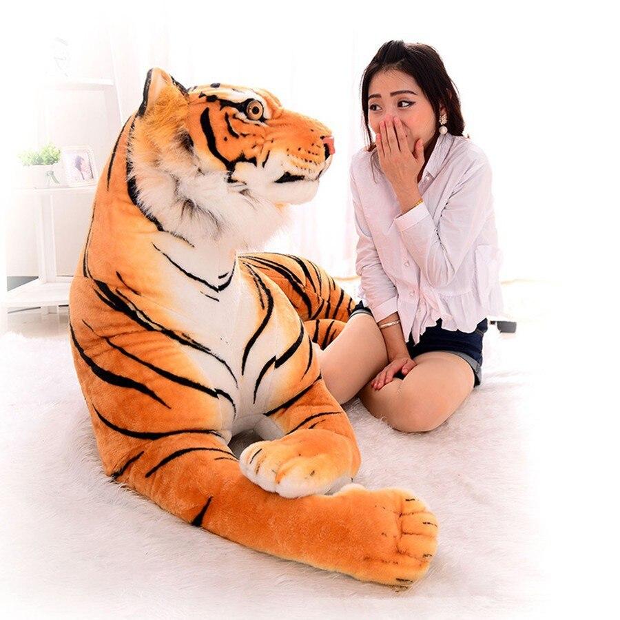 [Drôle] 230 cm Super grand roi de la forêt simulation grand tigre en peluche peluche jouet poupée modèle canapé voiture Animal coussin tenir oreiller
