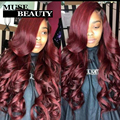 10A Ombre Malaysia Virgin Hair T1B/Burgundy Ombre Body Wave Human Hair Extensions 4pcs/lot Ombre Body Wave Peerless Virgin Hair