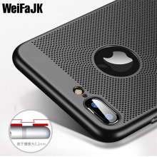 WeiFaJK Cases for iPhone 6s 7 8 X Case Luxury Fashion Carbon Fibre Hard Back Full Cover High Quality Case for iPhone 5s 6 Plus(China)