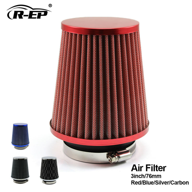 R EP Universal Car Air Filter 3inch Cold Air INTAKE Supercharger for 76mm intake hose Kit