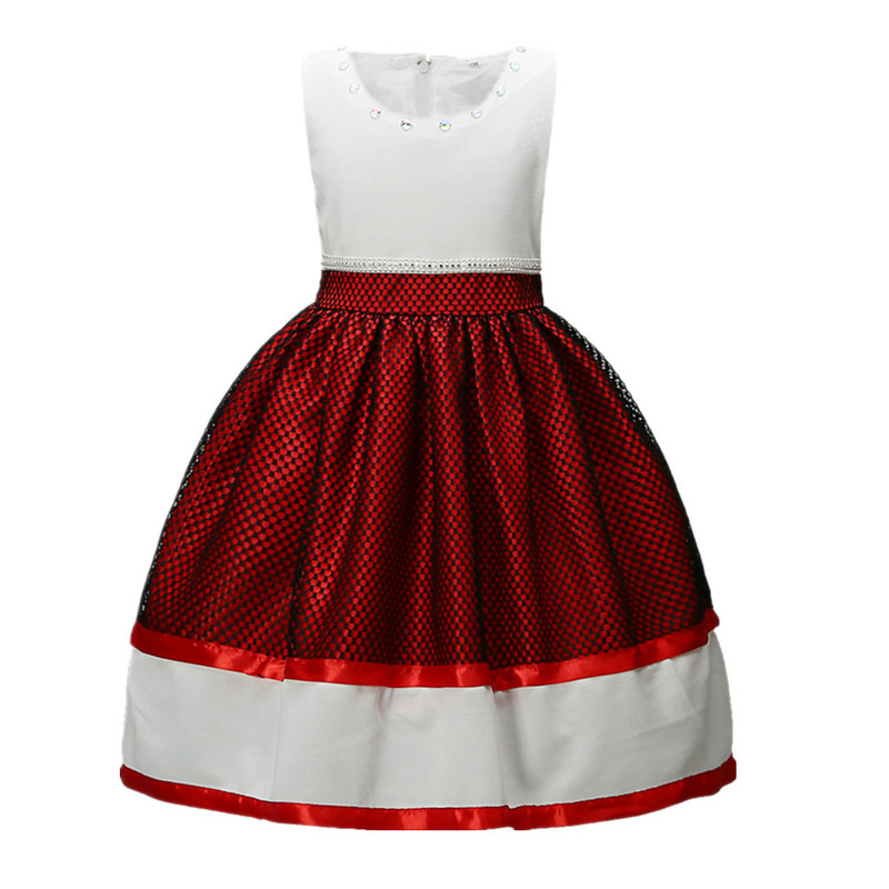 Flower Girl Dress for Wedding Baby 3-14 Years Birthday Outfits Children Girls Princess Dresses Kids Party Wear Clothes CA619