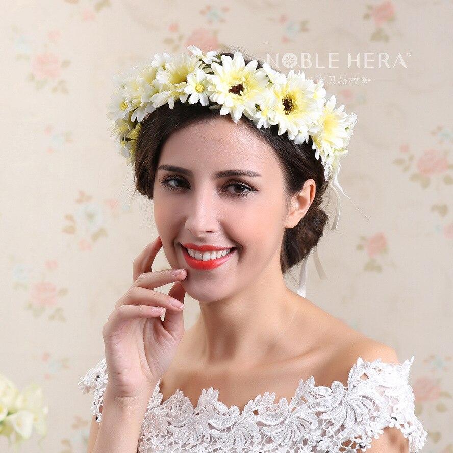 el original guirnalda de flores vestido de novia para adornos de boda accesorios para el cabello