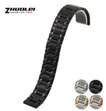 Ver accesorios de 18 mm nueva Repalcement Metal venda de reloj de la correa pulseras