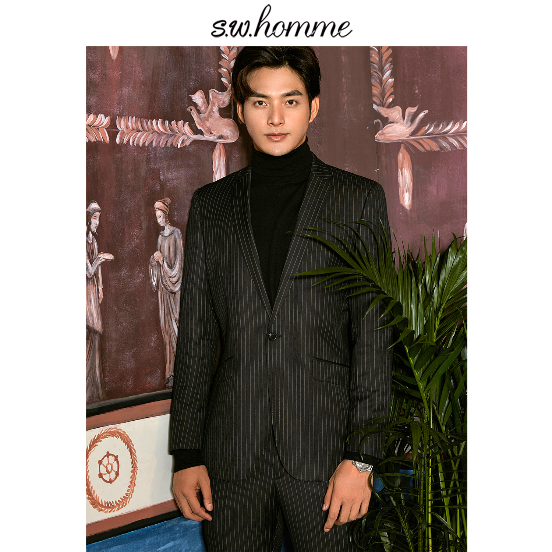 Beautiful Oscn7 2019 2 Colour Vertical Stripes Korea Customize Suits Slim Fit Leisure Tailor Made Mens Suit Qn-wt-1129-70 Qn-wt-1129-90 Suits & Blazers Tailor-made Suits