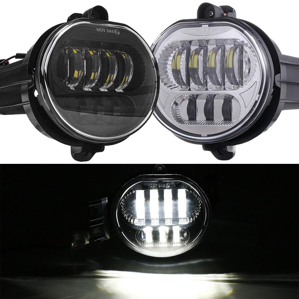 2Pcs 63W Car Lights Fog Lamp For 2002-2008 Dodge Ram 1500 2500 3500 /2004-2006 Dodge Durango Pickup Truck Led Fog Lights Pair