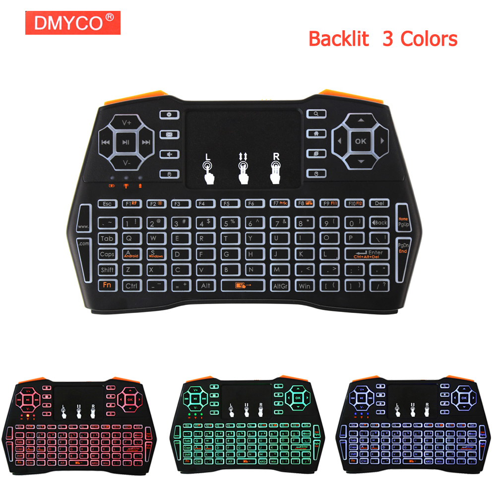i8 Plus Mini Wireless gaming Keyboard Russian Deutsch Spanish teclado gamer keyboard 2.4G with Air Mouse TouchPad for Tablet PC neworig keyboard bezel palmrest cover lenovo thinkpad t540p w54 touchpad without fingerprint 04x5544