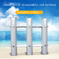 Three Hole Quick Disassembly Rod Holders Portable Anticorrosive Fishing Rack Holders Rests