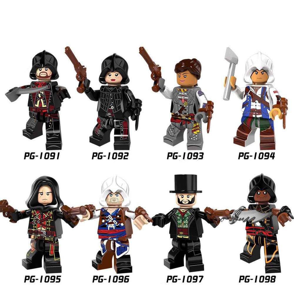 Legoings Pingo bricks PG8086 Assassin letter condition series assembled mandarin Yanuo Ai Fu Lin Conner Shea bag