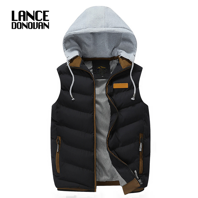 2016 Brand Men Casual Thick Vests Men Sleeveless Coats Male Warm Cotton-Padded mens jacket sleeveless veste
