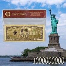 Цветная фольга для банкнот 24k Gol, один тысяча миллионов долларов, бумажная бумага для банкнот, подарок