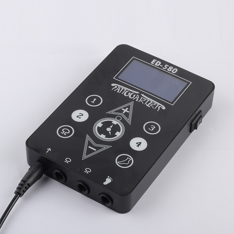 YILONG Free Shipping Wholesale Black New Black Duty Digital LCD Tattoo Power Supply For Machine Gun